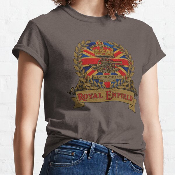 Classic Royal Enfield Crest Motorcycle design by MotorManiac Classic T-Shirt