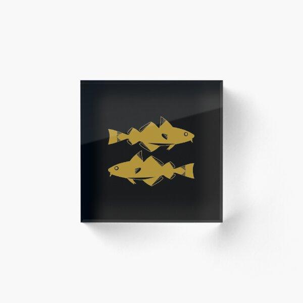 Pisces - Zodiac Symbols Acrylic Block