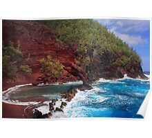 Red Sand Beach Poster