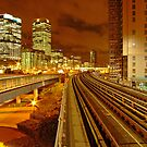 London Docklands at Night - DLR stations by DavidGutierrez