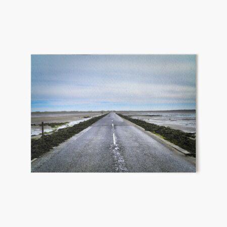 The road to Holy Island Art Board Print