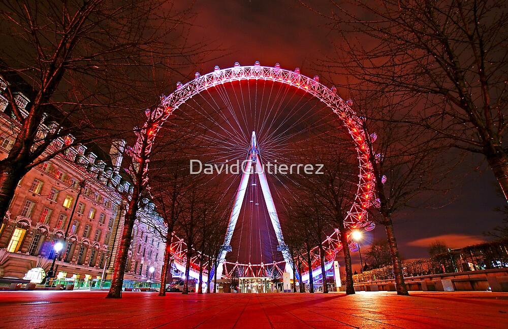 London Red Night - London Eye by DavidGutierrez