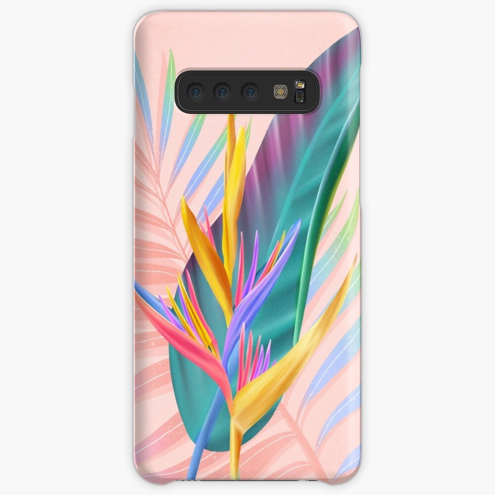 tropical bird of paradise Cases & Skins for Samsung Galaxy