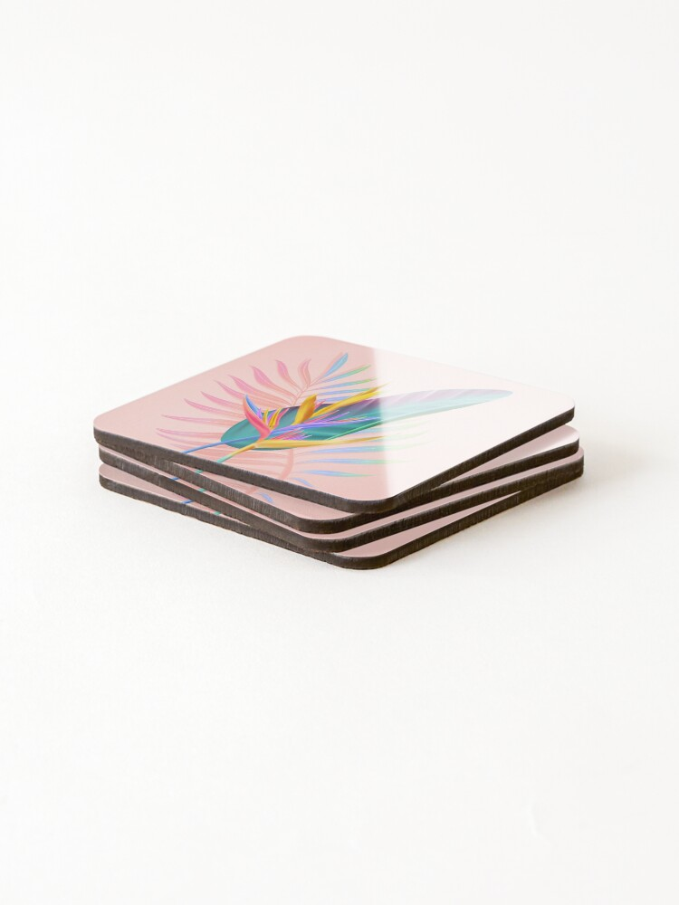 Alternate view of tropical bird of paradise Coasters (Set of 4)