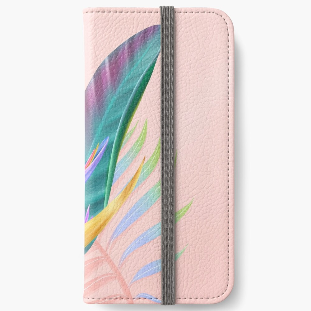 tropical bird of paradise iPhone Wallet
