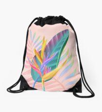tropical bird of paradise Drawstring Bag