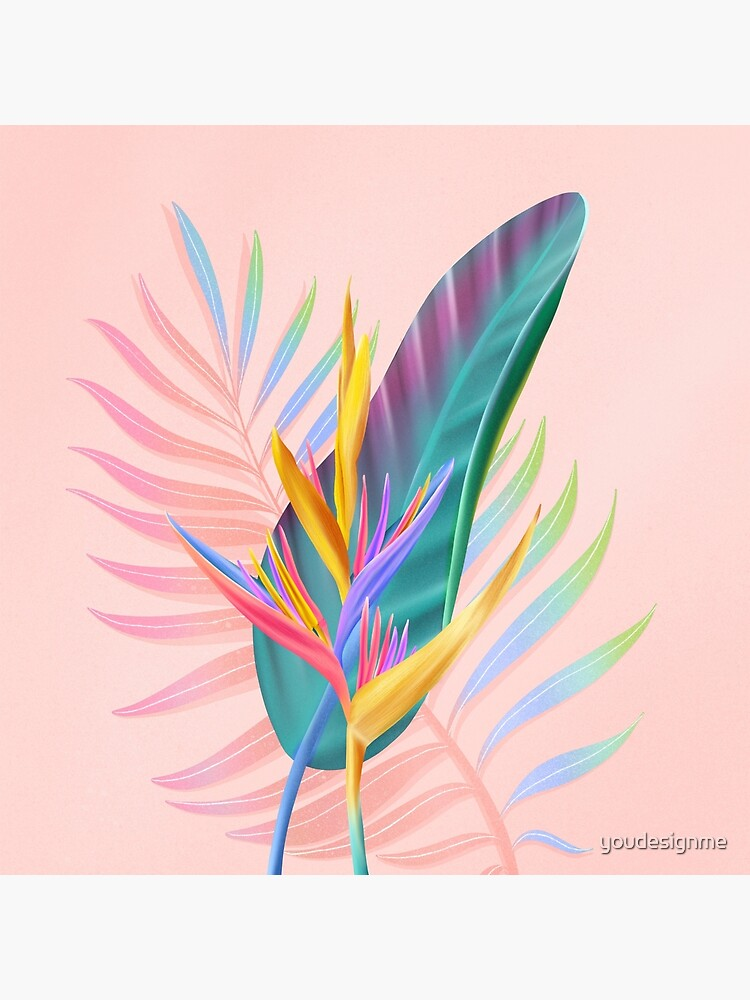 tropical bird of paradise by youdesignme