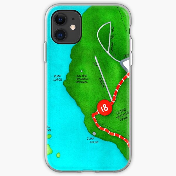 San Francisco map - Outer Richmond iPhone Soft Case