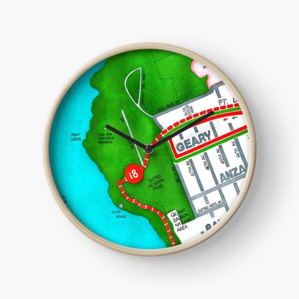 San Francisco map - Outer Richmond Clock