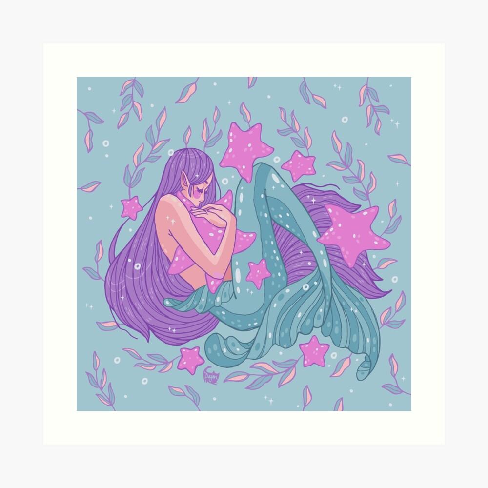 Starfish Hugs Art Print