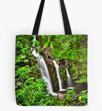 Road to Hana Waterfalls Tote Bag