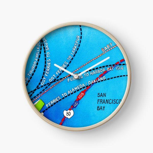 San Francisco map - Embarcadero Clock