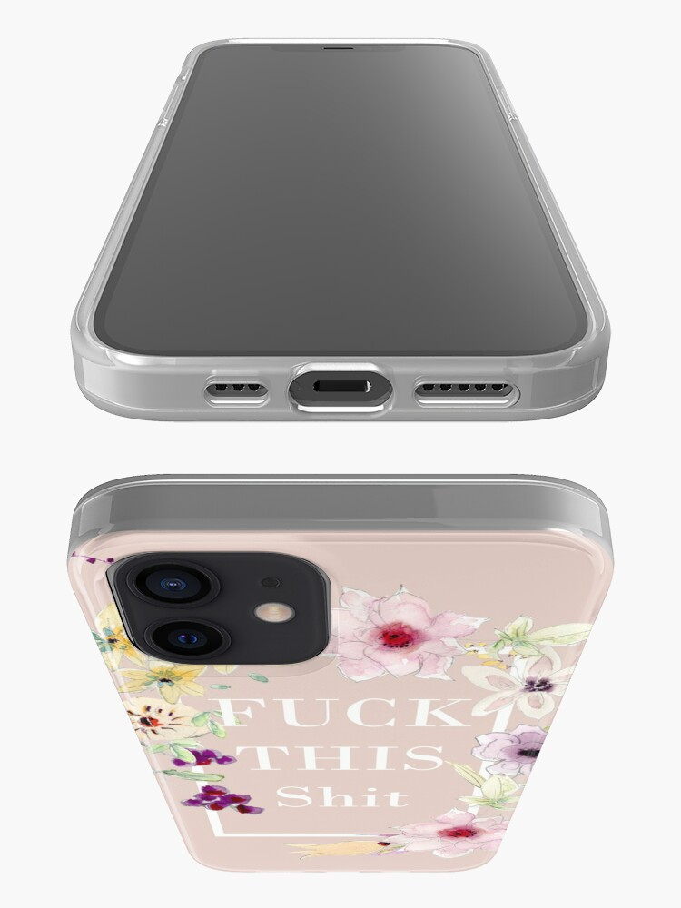 Alternate view of Fuck this shit - Floral summer flowers  iPhone Case & Cover