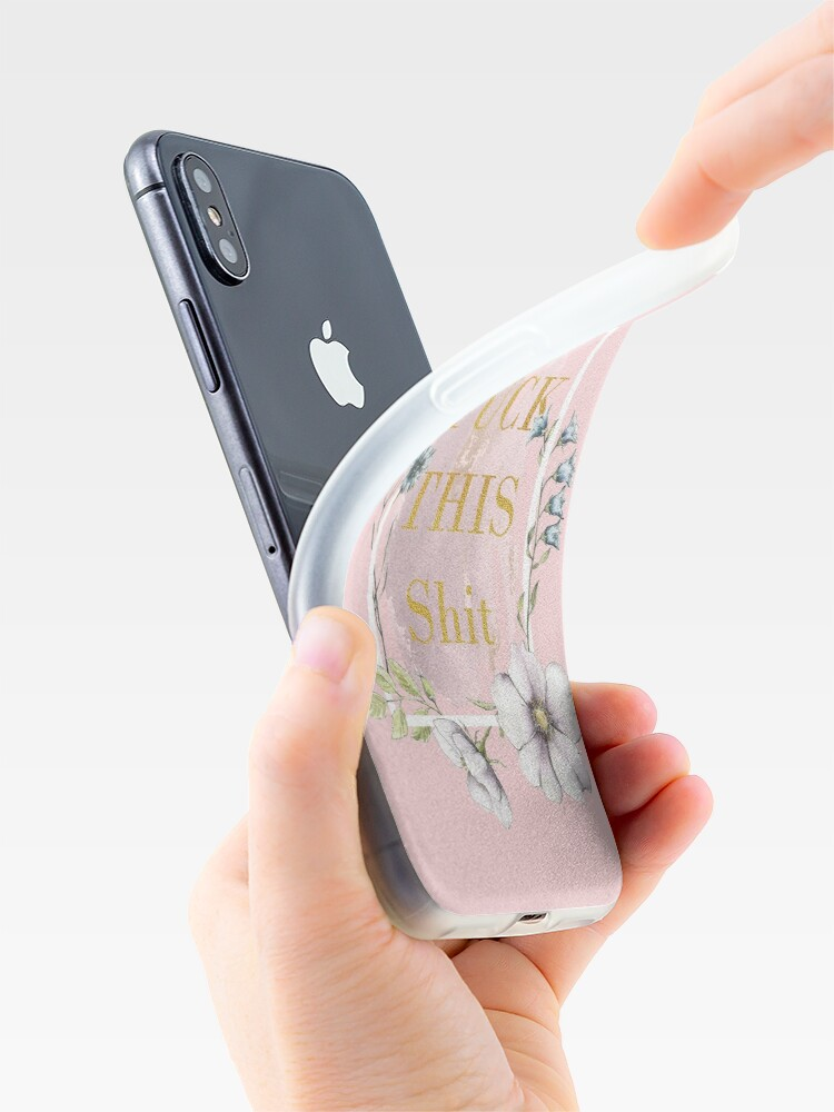 Alternate view of Fuck this shit  iPhone Case & Cover