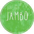 Jambo Watercolor Style - Africa Swahili Quote for Hello by TimorousEclectc