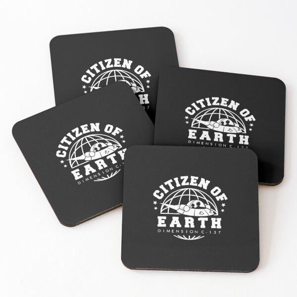 'Earth Dimension C-137 Coasters (Set of 4)
