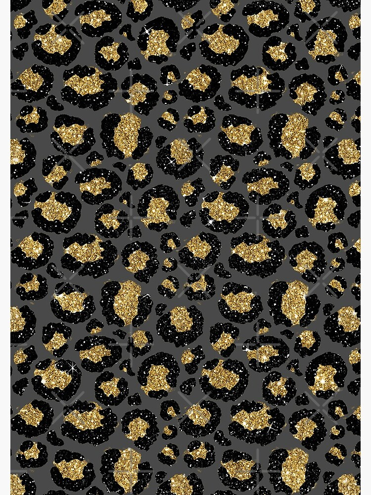 Black and Gold Glitter Cheetah Skin by MysticMarble