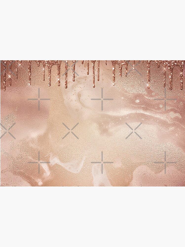 Copper Bronze Glitter Rain on Shiny Marble by MysticMarble