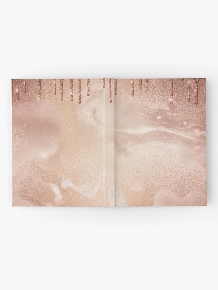Alternate view of Copper Bronze Glitter Rain on Shiny Marble Hardcover Journal