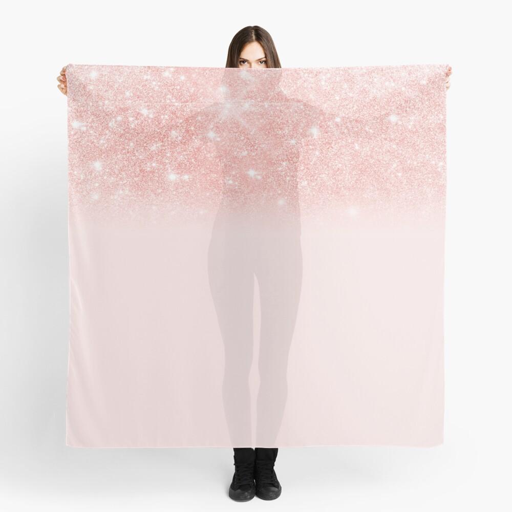 Blush Rosegold Glitter  Scarf