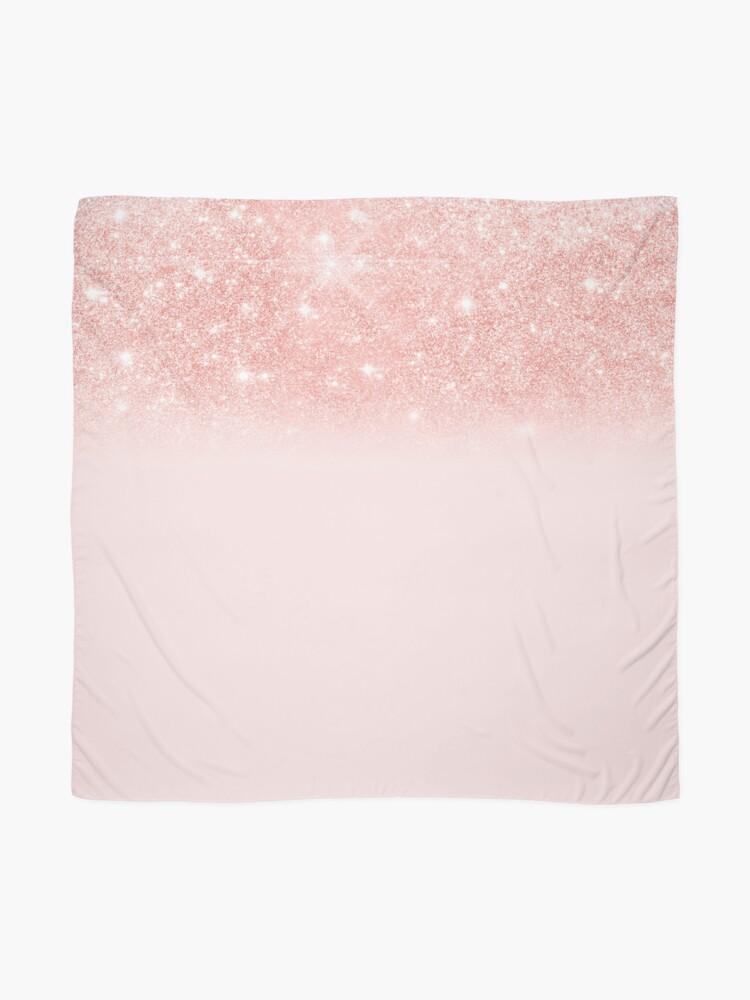 Alternate view of Blush Rosegold Glitter  Scarf