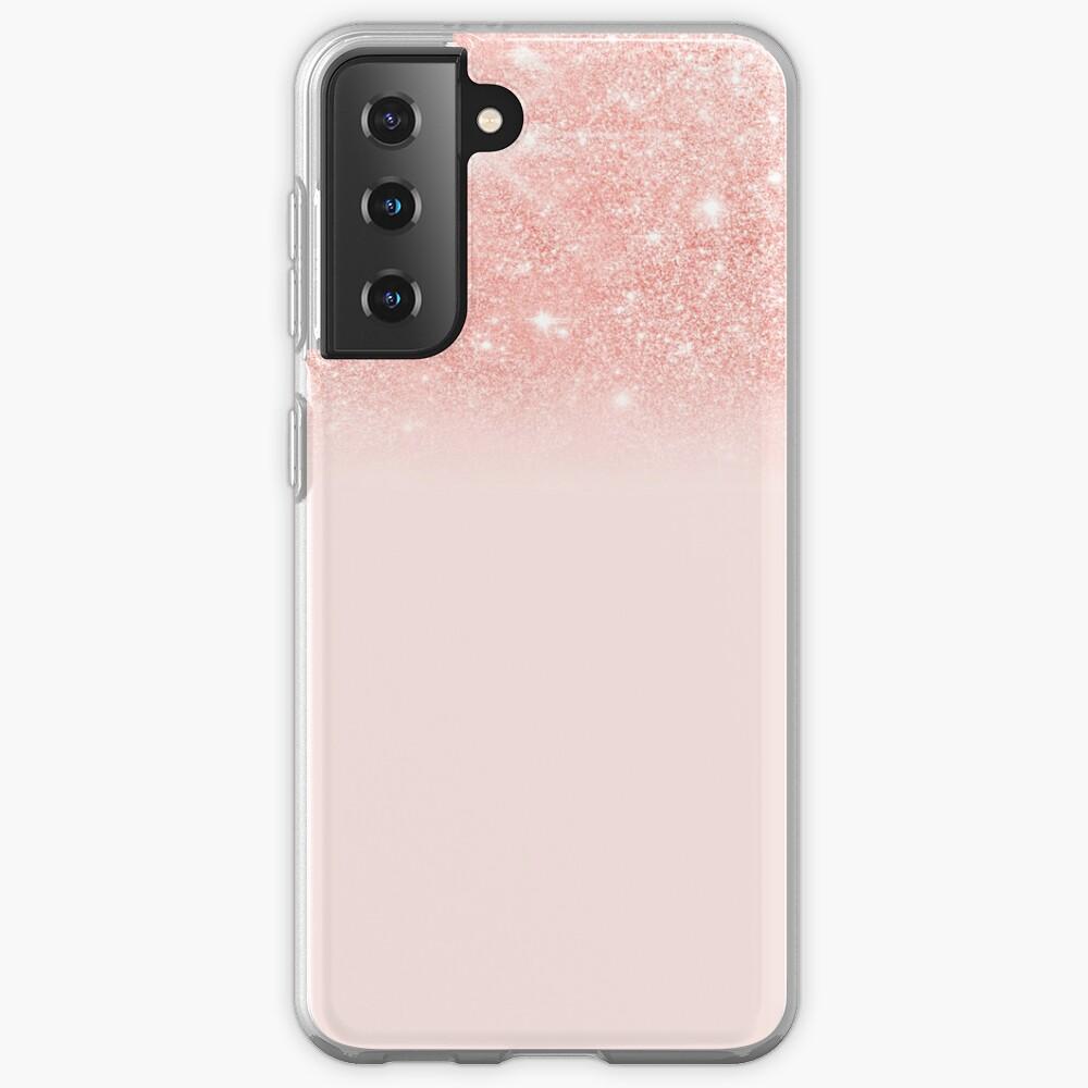 Blush Rosegold Glitter  Case & Skin for Samsung Galaxy