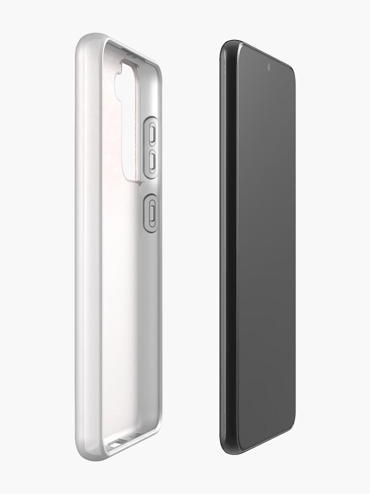 Alternate view of Blush Rosegold Glitter  Case & Skin for Samsung Galaxy