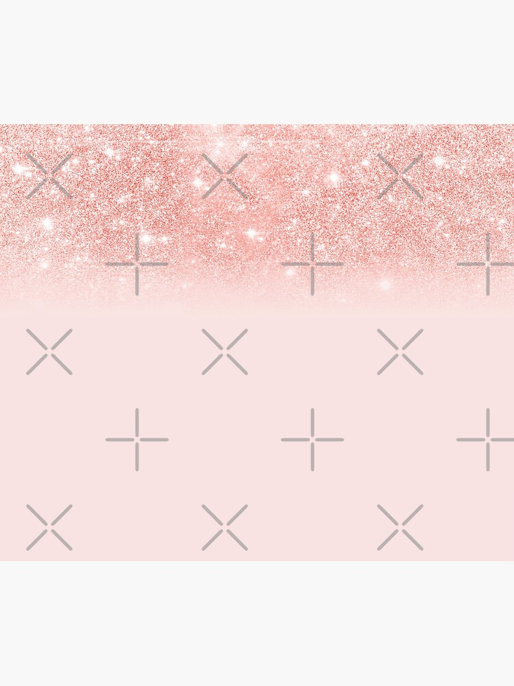 Blush Rosegold Glitter  by MysticMarble