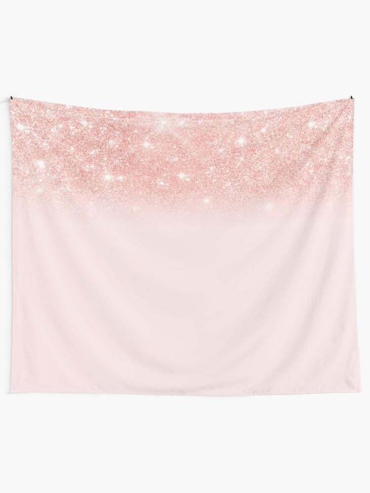 Alternate view of Blush Rosegold Glitter  Tapestry