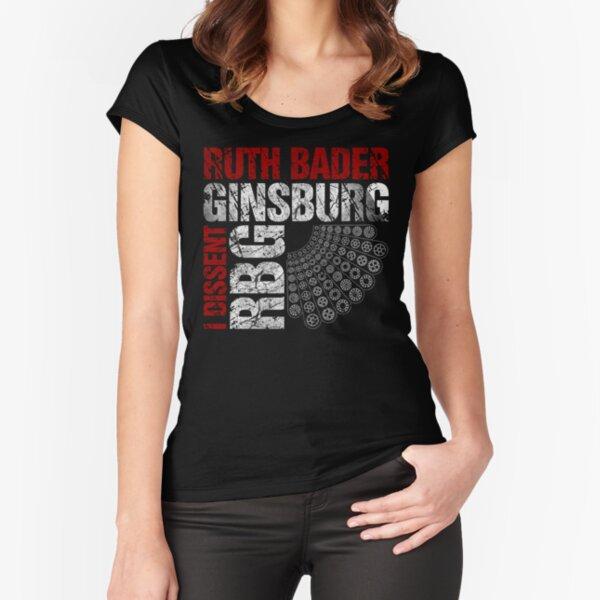 Ruth Bader Ginsburg Ich widerspreche beunruhigten Text - ursprünglicher Entwurf Tailliertes Rundhals-Shirt