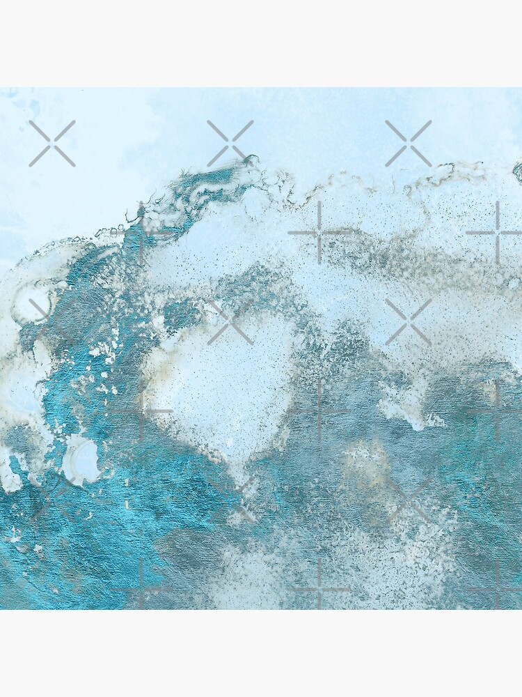 Ice Blue Metal Foil and Light Blue Marble Texture by MysticMarble