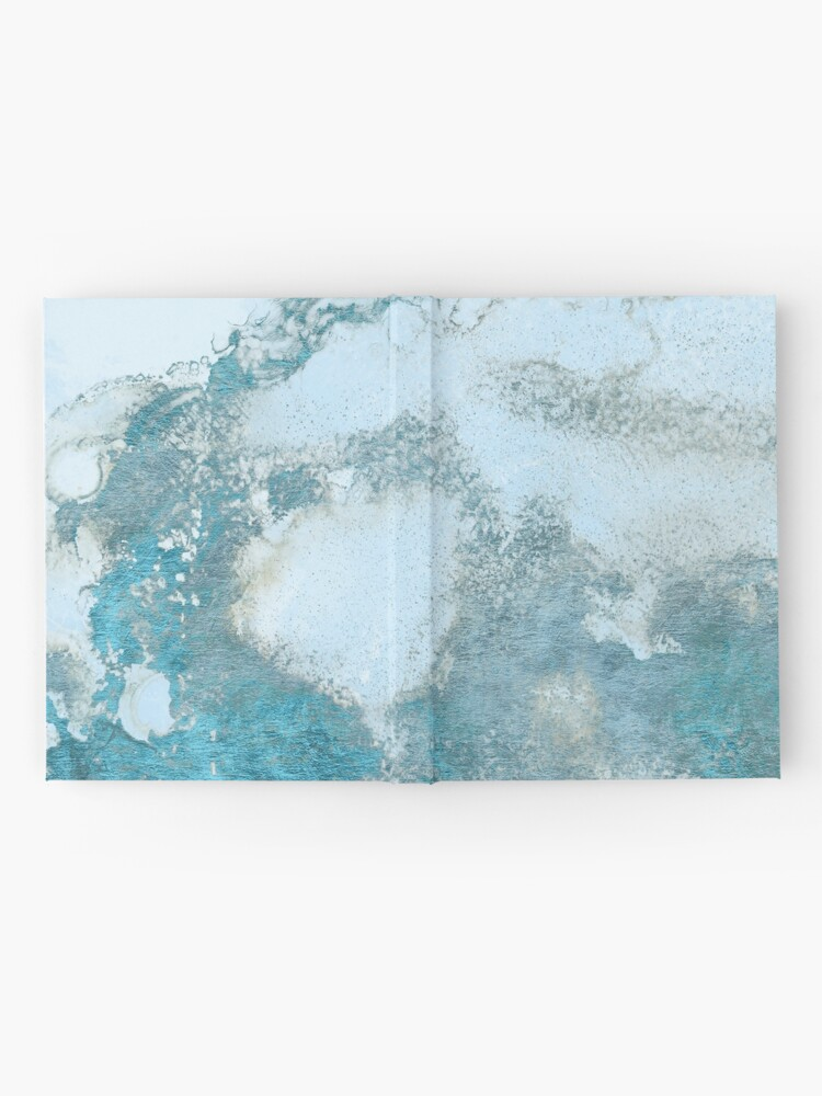 Alternate view of Ice Blue Metal Foil and Light Blue Marble Texture Hardcover Journal