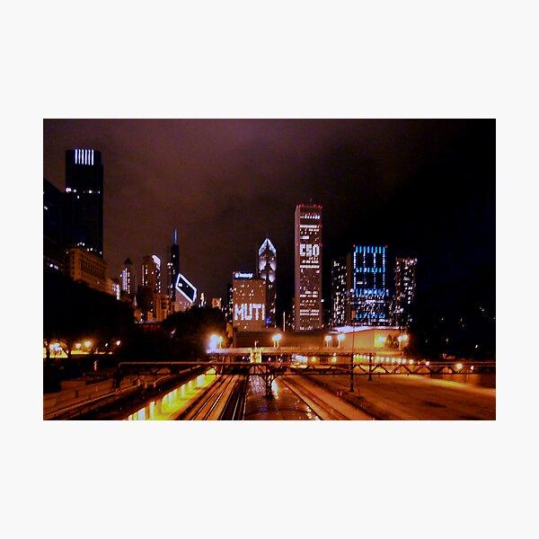 Festa Muti No. 2 -- The City at Night Photographic Print
