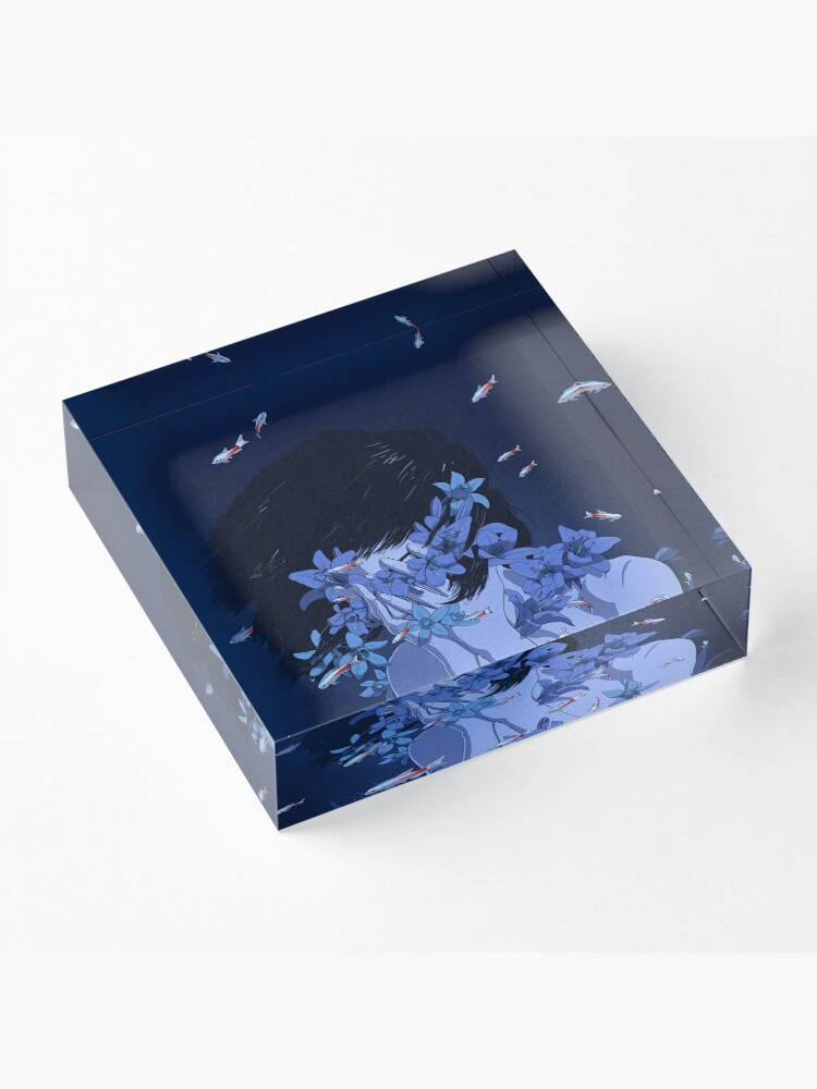 Alternate view of Perfect Blue Acrylic Block