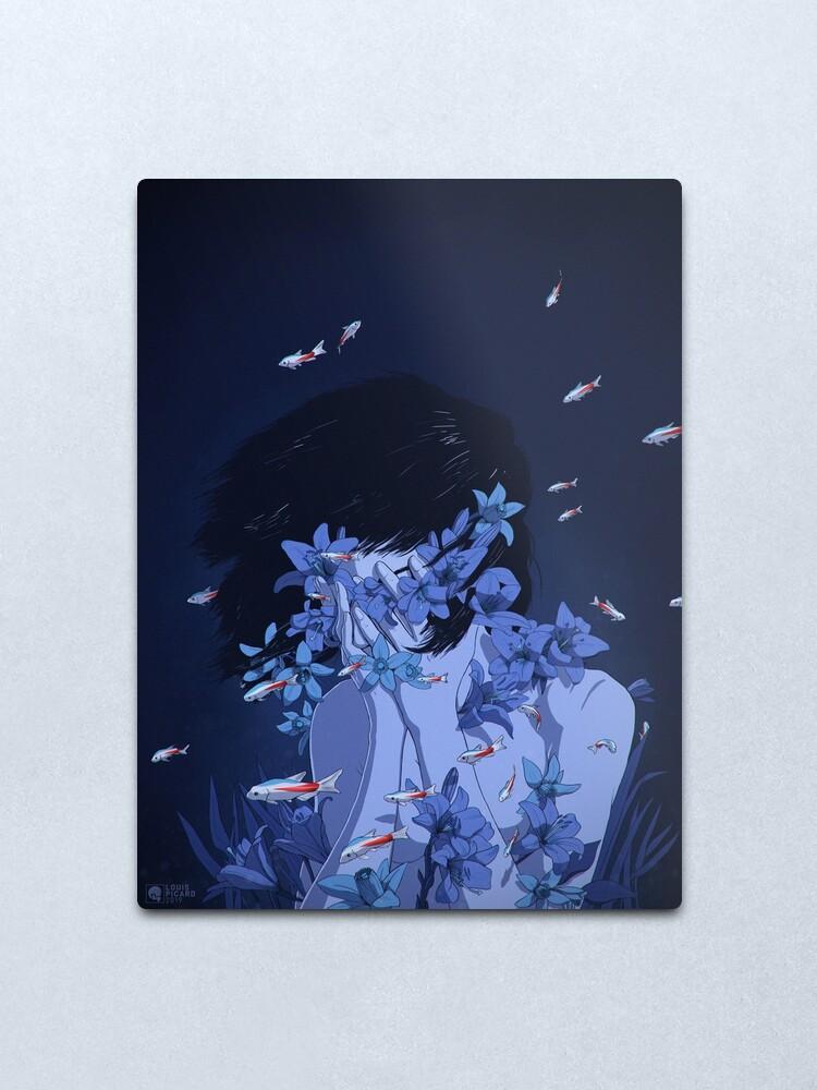 Alternate view of Perfect Blue Metal Print