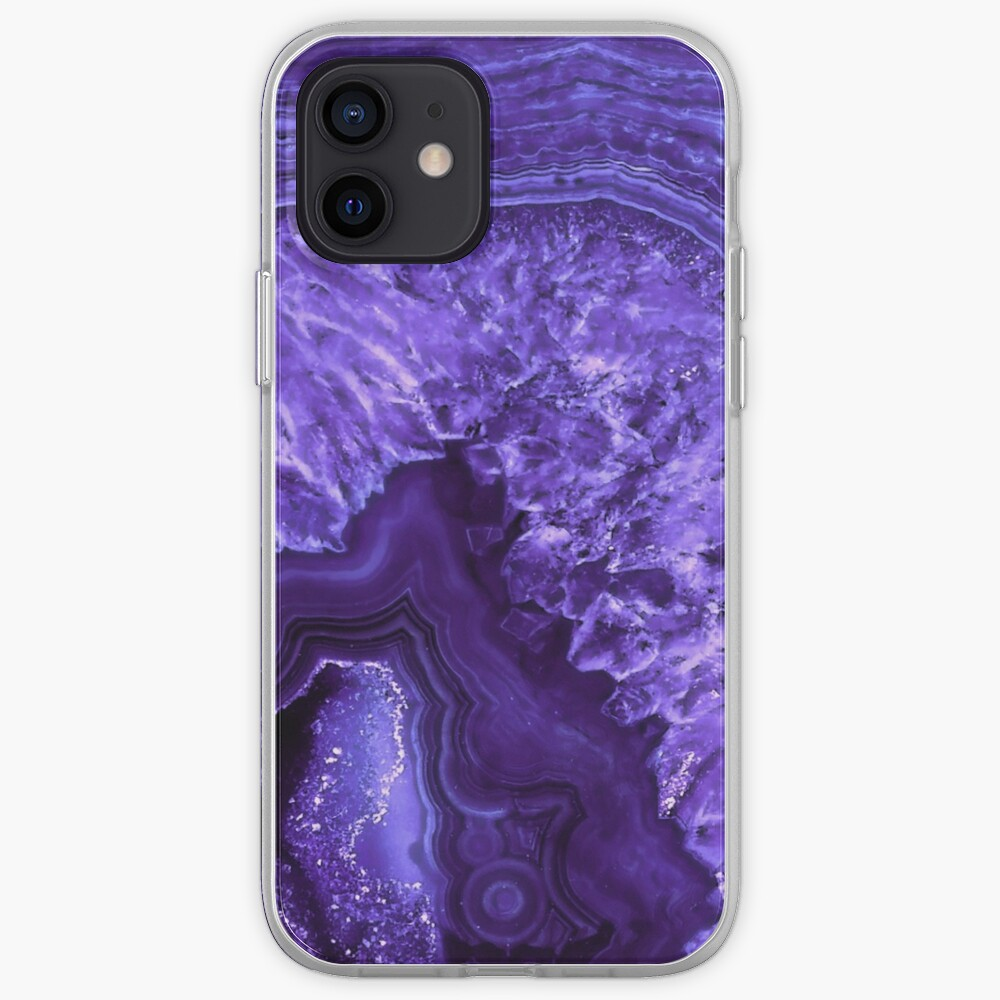 Ultra Violet Agate Mineral Gemstone iPhone Case & Cover