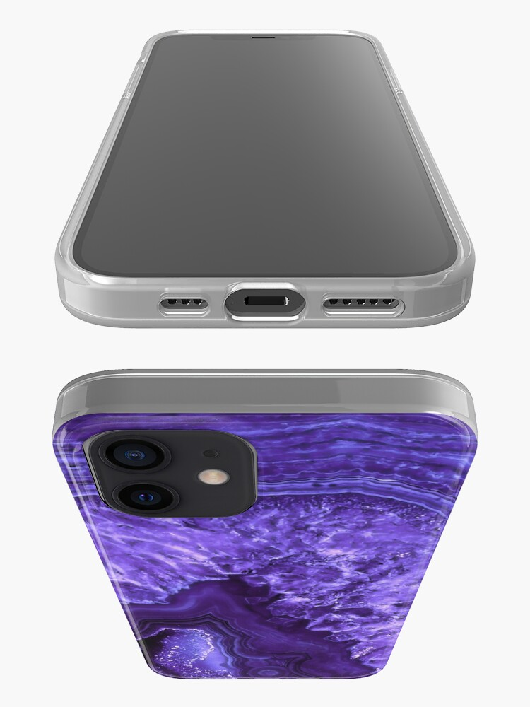 Alternate view of Ultra Violet Agate Mineral Gemstone iPhone Case & Cover