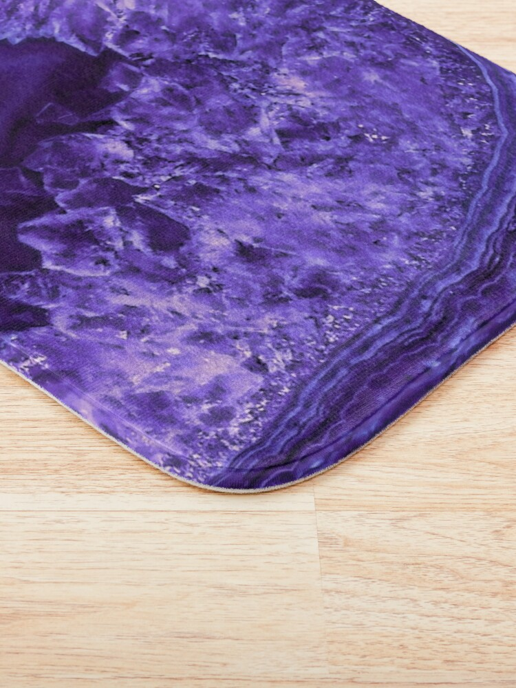 Alternate view of Ultra Violet Agate Mineral Gemstone Bath Mat