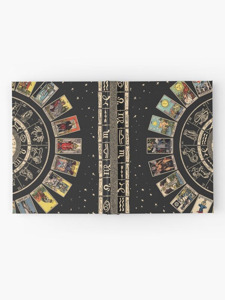 Alternate view of Wheel of the Zodiac, Astrology Chart & the Major Arcana Tarot Hardcover Journal