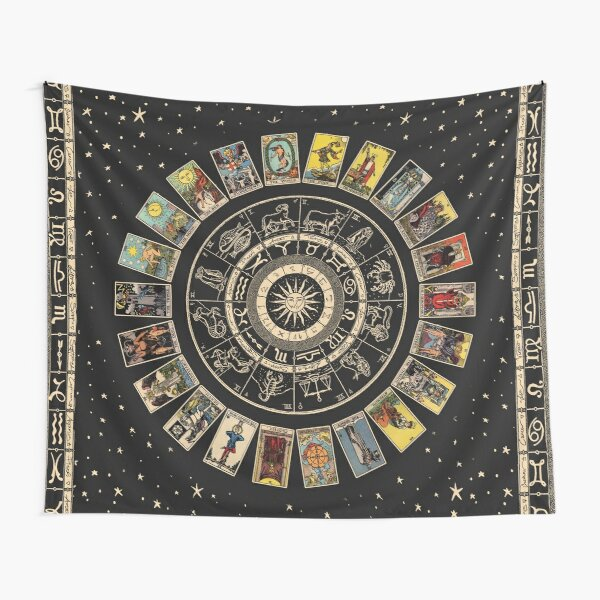 Wheel of the Zodiac, Astrology Chart & the Major Arcana Tarot Tapestry