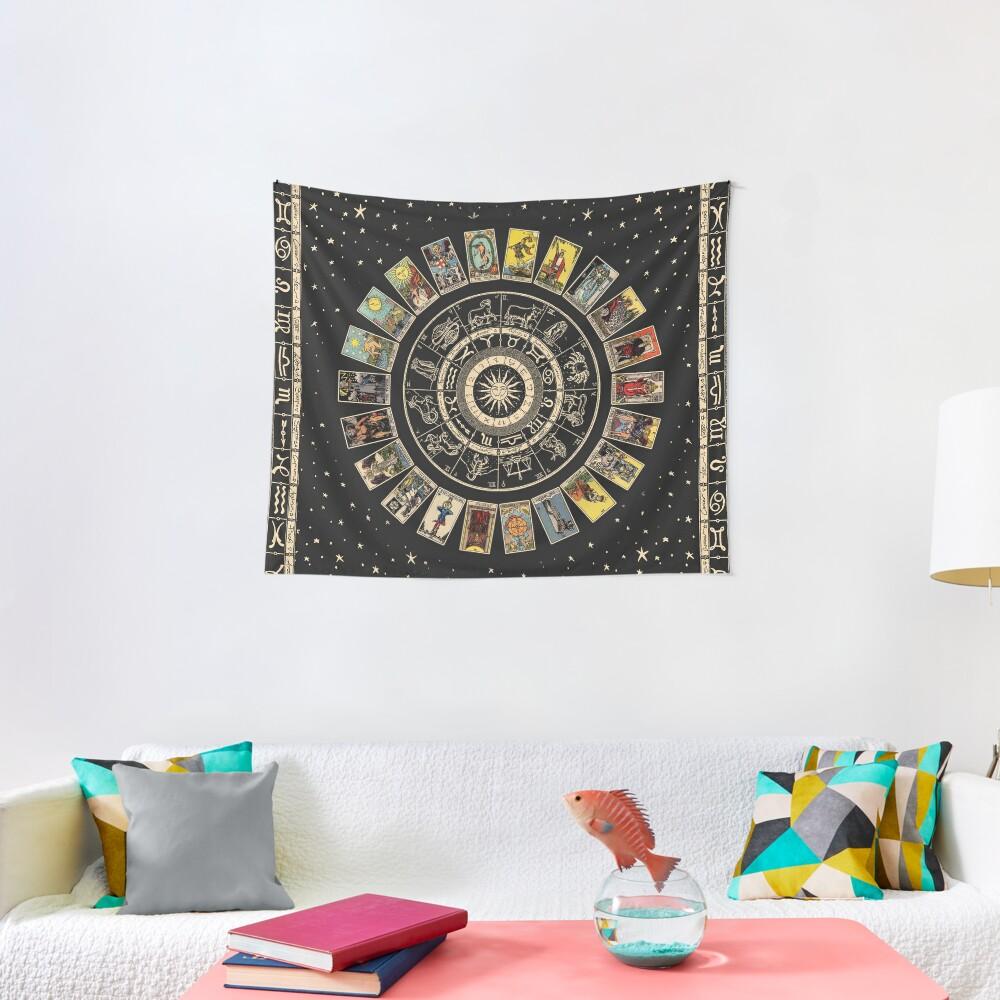 Wheel of the Zodiac, Astrology Chart & the Major Arcana Tarot Tapestry