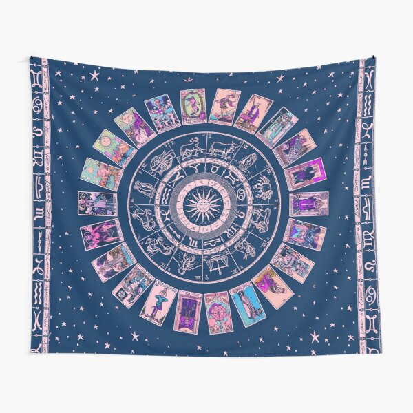 Pastel Goth Zodiac, Astrology Chart & the Major Arcana Tarot Tapestry