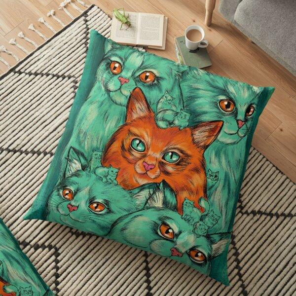 Kitty Madness Floor Pillow