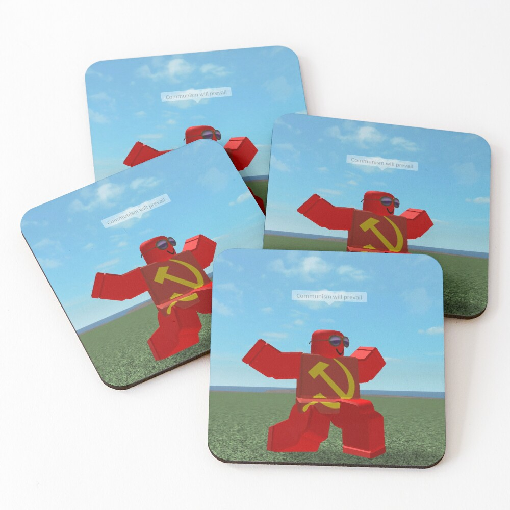 Communism Will Prevail Roblox Meme Bath Mat By Thesmartchicken Redbubble Communism Will Prevail Roblox Meme Coasters Set Of 4 By Thesmartchicken Redbubble