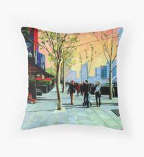 Southbank Promenade Throw Pillow