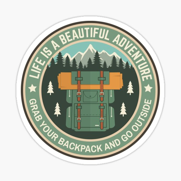 Travel BackPack Sticker