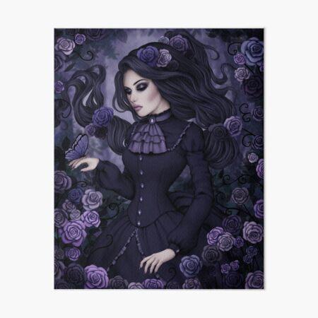 Shadowy Rose Art Board Print