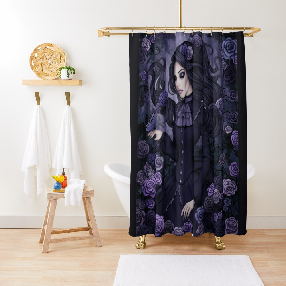 Shadowy Rose Shower Curtain