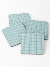 Sea Gingham checks Coasters