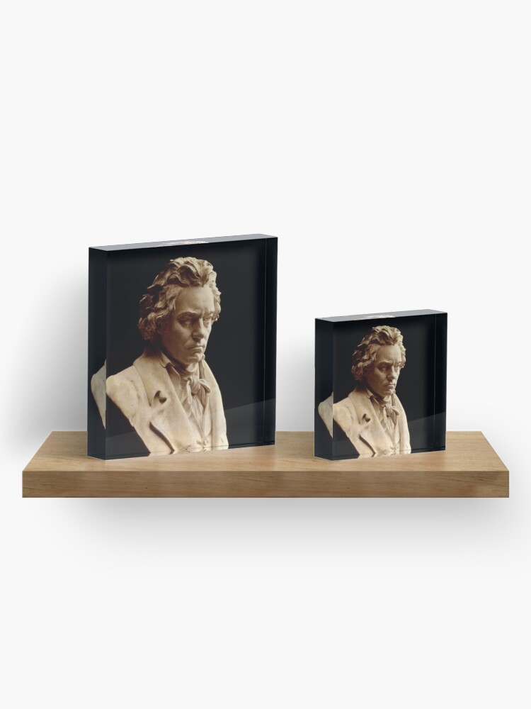 Alternate view of Beethoven bust statue by Hagen Acrylic Block